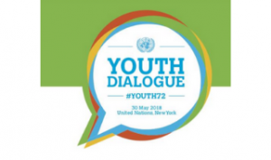 logo from the UN President's Youth Dialogue